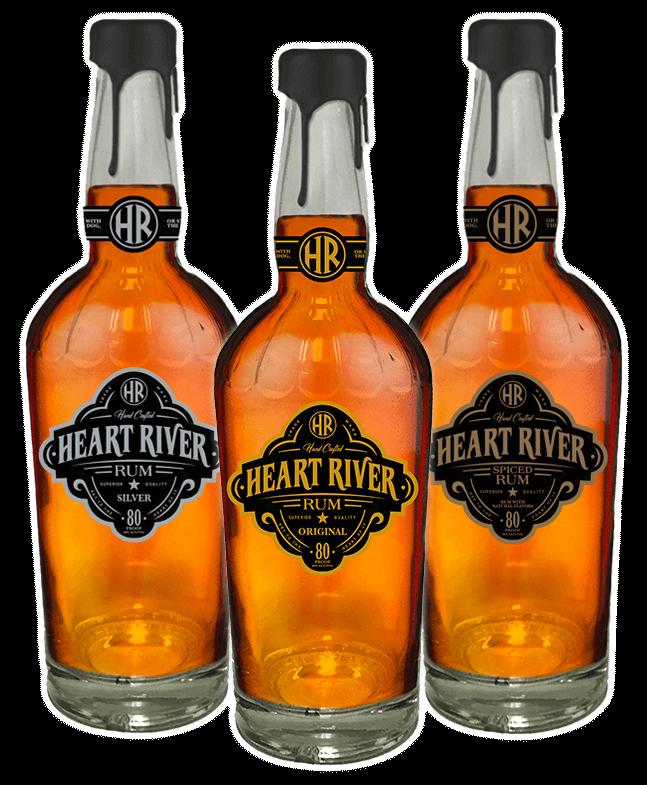 Heart River Rum Bottles